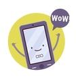 Smiling boy smartphone vector image vector image
