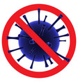 stop covid19-19 sign and symbol coronavirus vector image