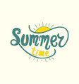 summer time unique lettering poster art vector image vector image