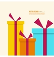 Surprise and bright holiday gift vector image vector image