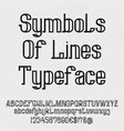 symbols of lines typeface isolated black capital vector image