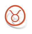 Taurus sign sticker orange vector image vector image