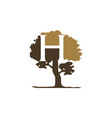 tree letter h vector image vector image