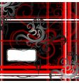 tribal art abstraction with copy-space vector image vector image