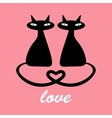 Two black cats in love vector image vector image