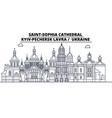 ukraine - kyiv-pechersk lavra travel famous vector image vector image