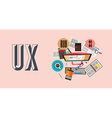 UX User Experience Background concept with Doodle vector image