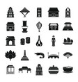 vietnam travel tourism icons set simple style vector image vector image