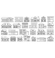 Villa house outlineline set icon