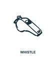 whistle icon mobile apps printing and more usage vector image vector image