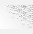 white geometric background with relief and shadow vector image vector image