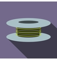 Wire spool icon flat style vector image vector image
