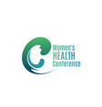 woman health conference badge vector image vector image