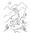 Atnelope walking on rocks vector image
