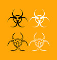 biological danger set black and white icon vector image