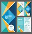 Business brochure modern design template vector image