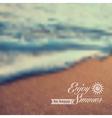 Summer beach vintage blurred background vector image