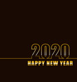 2020 happy new year with gradient background vector image vector image