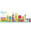 abstract riyadh saudi arabia city skyline with vector image vector image