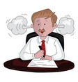 an angry businessman at work vector image vector image