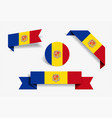 andorran flag stickers and labels vector image vector image