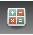 App icon calculator vector image