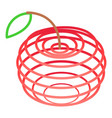 art apples icon isometric 3d style vector image vector image