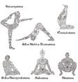 asanas in yoga vector image
