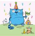 birthday card funny vector image
