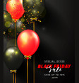 black friday sale advertising poster with black vector image vector image