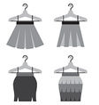 Black Women Skirts With Hangers vector image vector image