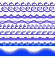 Blue Sea Waves vector image vector image