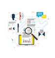 business marketing analytics and strategy in vector image vector image