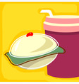 cake and drink vector image