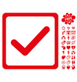 checkbox icon with valentine bonus