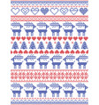 christmas pattern inspired by scandinavian pattern vector image vector image