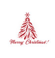 christmas tree greetings card image vector image vector image
