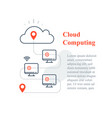 cloud computing system remote work access vector image