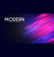colorful motion striped effect with light vector image vector image