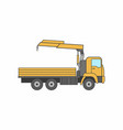 commercial truck crane icon vector image
