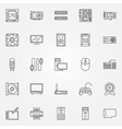 Computer components icons set vector image