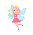 cute little fairy icon cartoon style isolated on vector image vector image