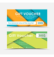Design of gift vouchers in style of material vector image vector image