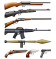 Different kind of fireguns vector image vector image