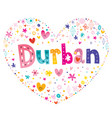 durban city in south africa vector image vector image