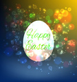 Easter Egg Isolated on yellow background