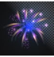 festive blue firework with glowing sparkles vector image vector image