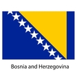 Flag of the country bosnia and herzegovina vector image