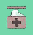 flat shading style icon medical napkins vector image vector image