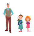 flat style education with teacher and students vector image vector image